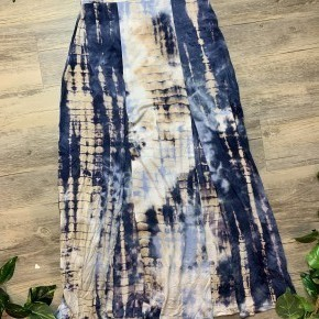 Tie Dye Long Maxi Skirt with Two Slits