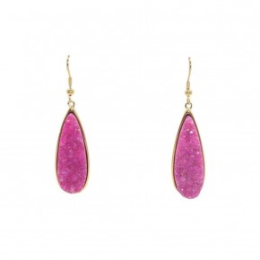 Blush Quartz Drop Earrings - Kinsley Armelle