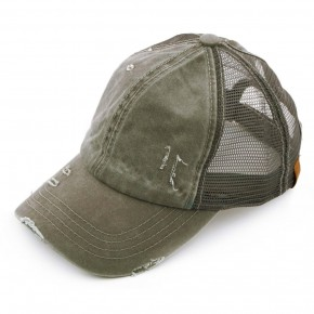 Olive Distressed hat