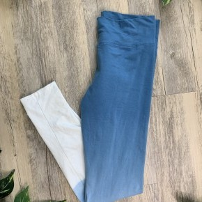 Blue and Ivory Ombre Leggings