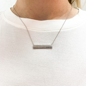 Fearless Silver Bar Necklace