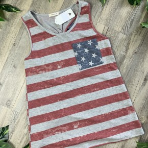 Striped 4th of July Top