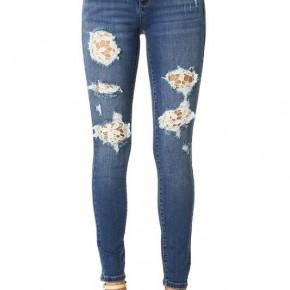 Judy Blue Lace Patch Skinny Jeans