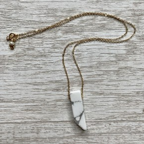 You Are My Rock Howlite Necklace- 18""