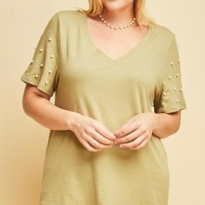 Pearl Sleeve Top