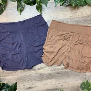 Solid Knit Harem Shorts