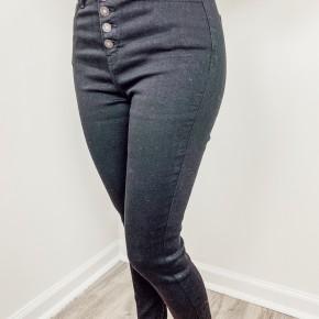 Kancan Button Up Black Jeans