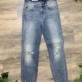 Relaxed Fit Beach Splash Crop Jeans