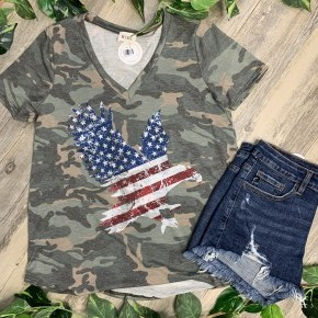 Camo American Eagle Top