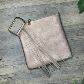 Rose Gold Purse with Frills