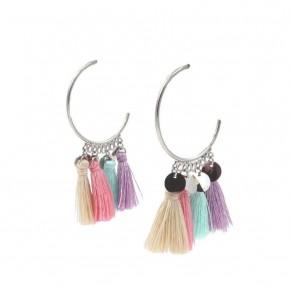 Silver Chika Earrings - Kinsley Armelle