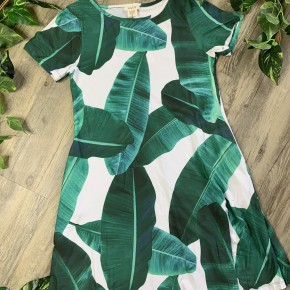 Dress with Green Leaves
