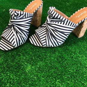 Black and White Bow Shoes