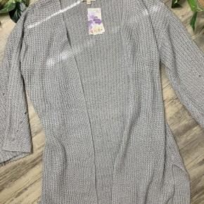 Grey Open Front Cardigan