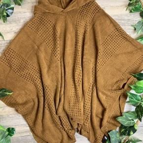 Caramel Hooded Poncho