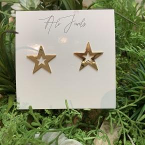 Gold Dallas Stud Earrings