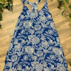 Royal Blue with White Floral Dress