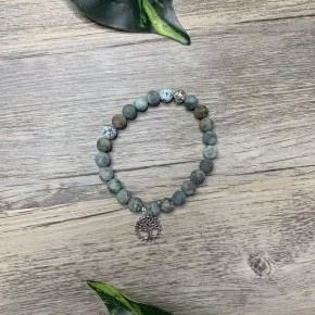 """African Turquoise- 8mm & 7.5"""""""