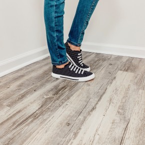 Black and White Pokadot Sneakers