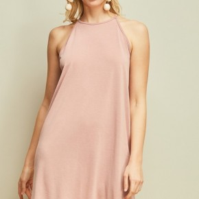 Halter-neck shift dress