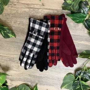 Buffalo Plaid Touch Screen Gloves