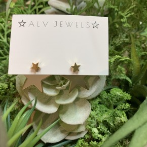 Gold Layered Star Stud Earrings