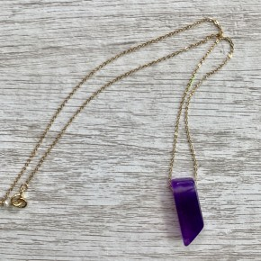 Dyed Purple Agate Necklace