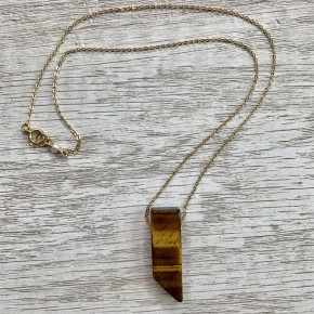 """You Are My Rock Tiger's Eye Necklace- 20"""""""