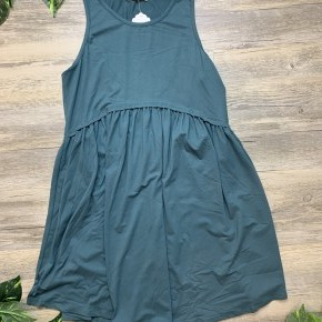 Green Ruffled Tank Dress