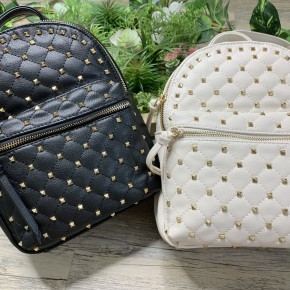 Backpack with gold studs