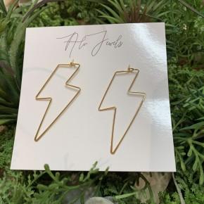 Gold Flash Earrings