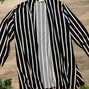 Striped Long Sleeve Cardigan