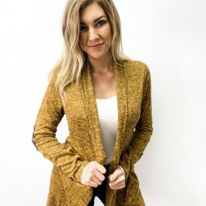 Tribal Elbow Patch Cardigan