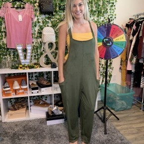 Olive Overall Romper