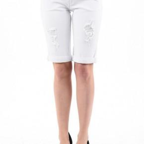 KanCan White Bermuda Shorts