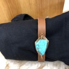 Turquoise / Leather Bracelet