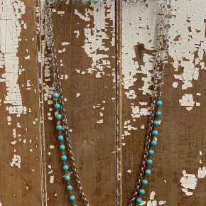 Silver And Turquoise Chain