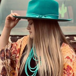 Teal Panama Hat
