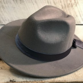 Steele Blue Panama Hat