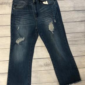 Destroyed Crop Flare Jeans