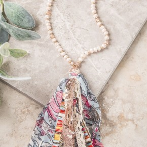 Little Bit Of everything Tassel Necklace, Gold