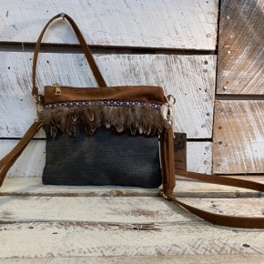 Crossbody Purse with feathers