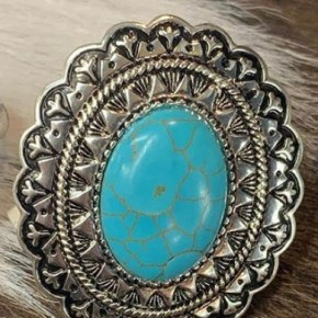 Astro Silver and Turquoise Ring Adjustable
