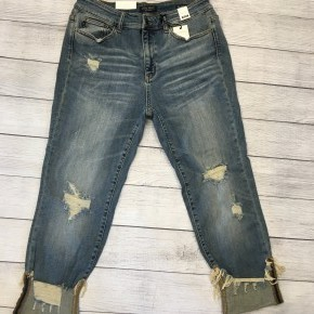 Cuff Destroy Relax Fit Jeans