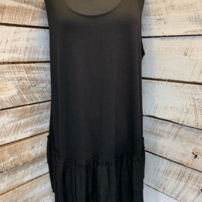 PLUS SIZE Sleeveless Ruffle Tunic