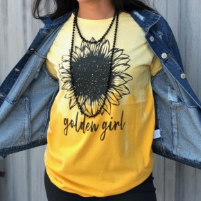 Gloden Girl Ombre Graphic Tee