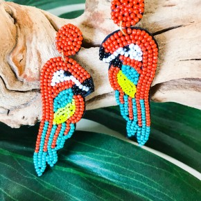 'Bahama Mama' Beaded Earrings
