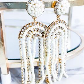Bead Tassel Arch Earring