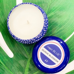 Capri BLUE Guava Blossom - Mini Tin Candle