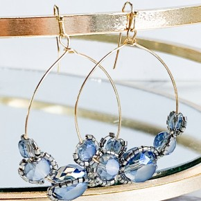 Belmont Round Fish Hook Earring